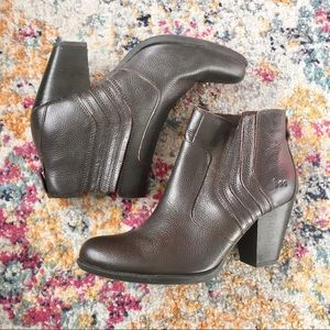 BOC - brown pebbled ankle boot